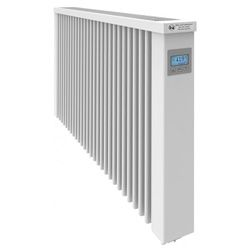 SmartCore AF07SC 2500W Horizontal Wi-Fi Clay Core German Electric Radiator White (W-1280mm H-6150mm D-90mm) Alexa & Google Home Enabled
