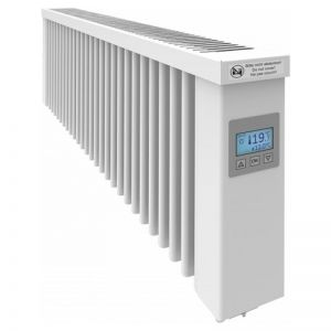 SmartCore AF12SC 1200W Wi-Fi Clay Core German Conservatory Electric Radiator White - (W-980mm H-325mm D-90mm) Alexa & Google Home Enabled