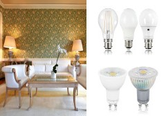 Led lamps for commercial