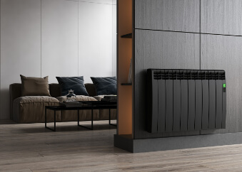 black electric radiator delta