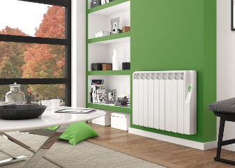 Radiator in green room